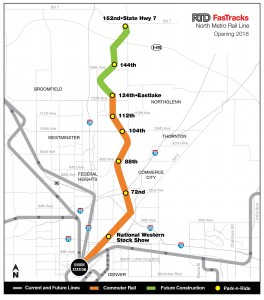 FasTracks North Metro Rail Line Map